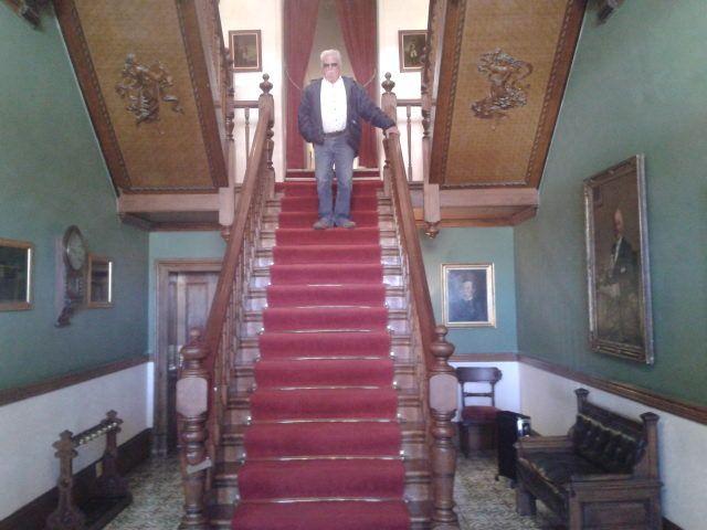Impressive staircase in the hotel