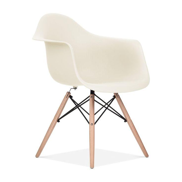 Chaise Design & Moderne de Style DAW en Blanc Cassé | Cult Furniture