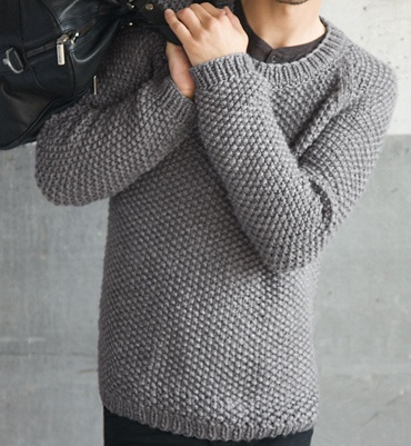 Seed stitch sweater. I could make this!