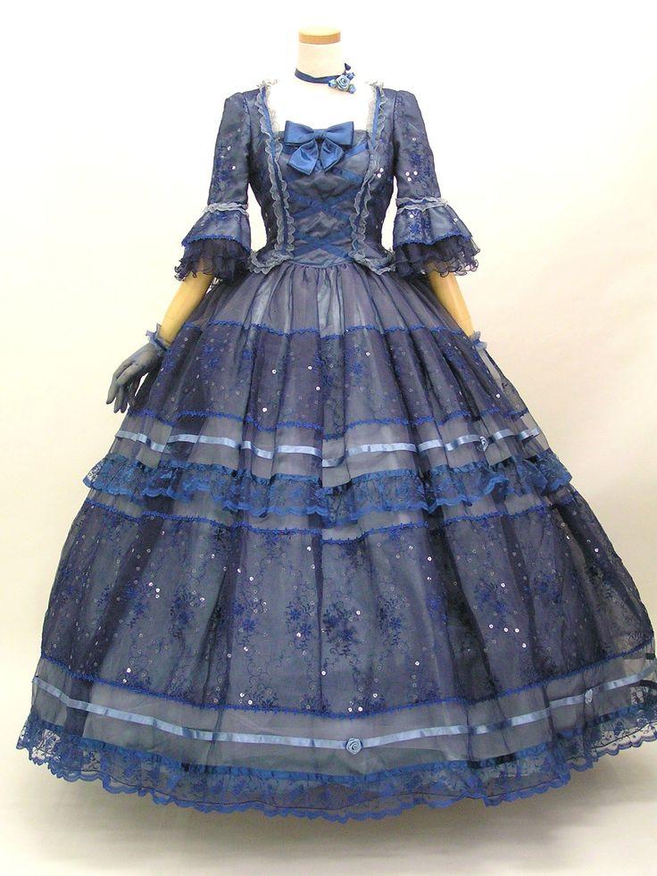 18th Century gown - XVIII век?? но можно сделать такой кринолин и на XIX в.
