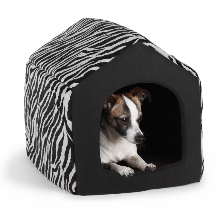Zebra Pattern Dog Bed