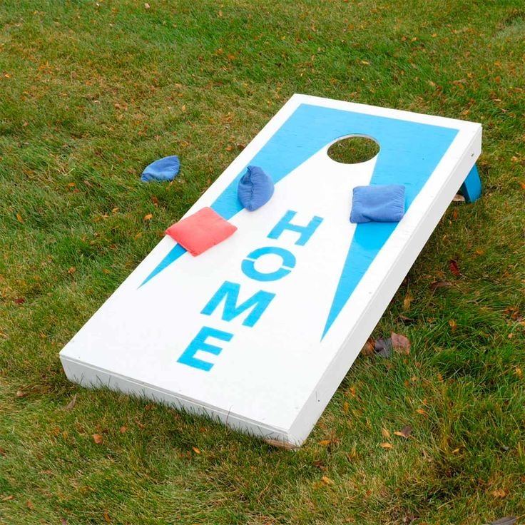 This classic backyard game is easy and inexpensive to make yourself. And with legs that fold up, it's easy to tote along for tailgating, camping and more.