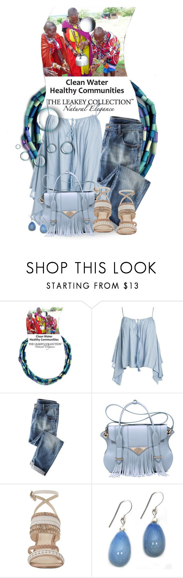 """""""World Health Day...Beads for Clean Water"""" by theleakeycollection ❤ liked on Polyvore featuring Sans Souci, Ella Rabener and Nine West"""
