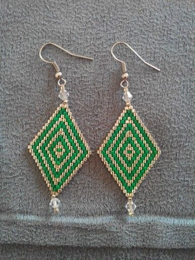 Earrings with Delica