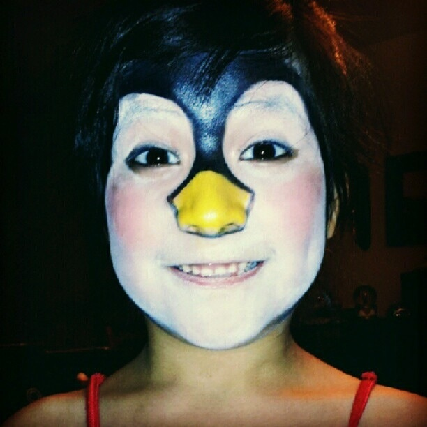Penguin face makeup
