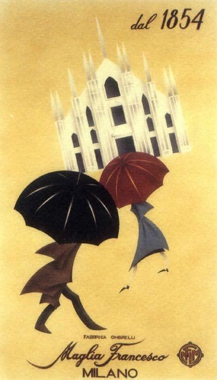 Vintage Milan poster