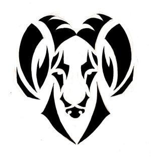 Zodiac Tattoo Designs With Image Zodiac Symbol Picture Aries Tribal Tattoo 9