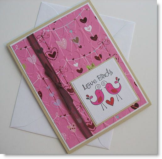 Valentine Greeting Card Handmade Blank Note Card by Sentimentalist