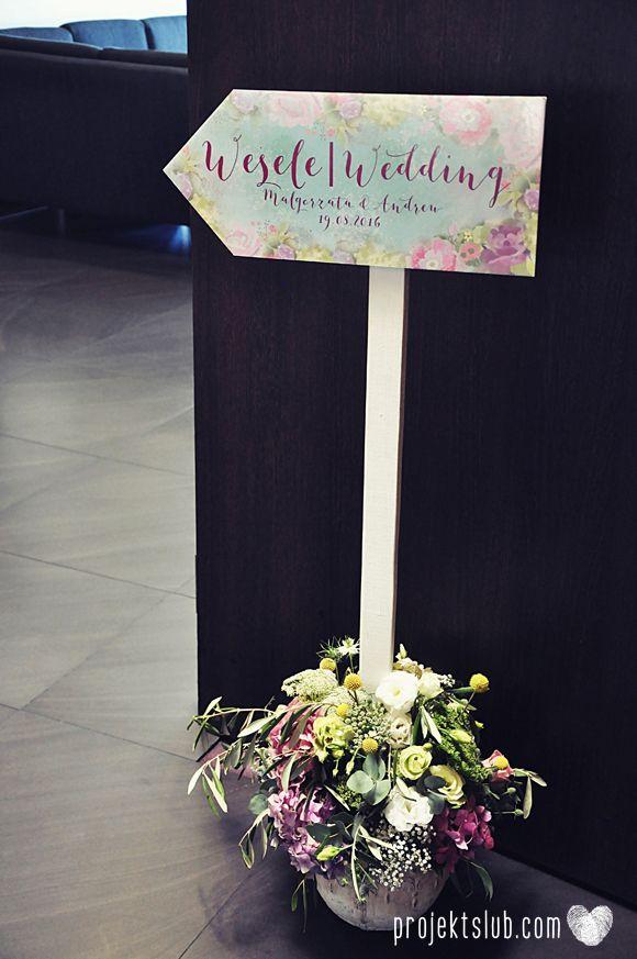 Drogowskaz weselny - Projekt Ślub