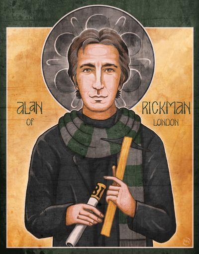 """""""Thank you for missing me."""" -Jamie, Truly Madly DeeplyAlan Rickman; 'patron saint' of multi-faceted graphic designers, antagonists, and souls of subtle complexity.The passing of Alan Rickman was tough for me. It's difficult for me to explain with words, so I did this. An icon for an icon."""