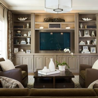 Built In Entertainment Center Design Ideas built in cabinets Designing With Monochromatic Palettes