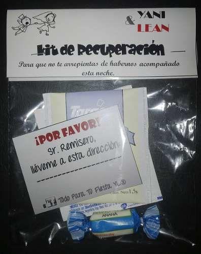 souvenir casamiento kits post resaca 100 invitados