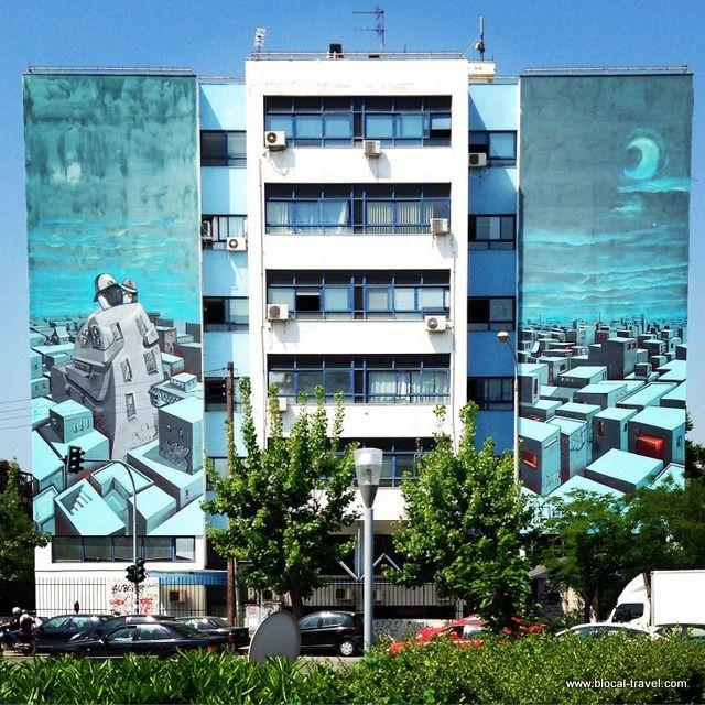 Street art on Leof Konnou Karamanli blvd., Thessaloniki    Read my travel blogpost here: http://www.blocal-travel.com/balkans/thessaloniki/