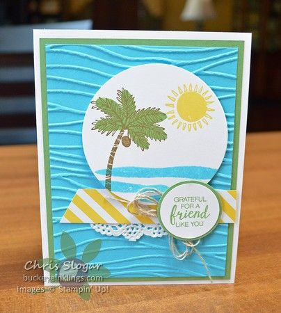 Summer Vacation Trees by Chris Slogar - Cards and Paper Crafts at Splitcoaststampers