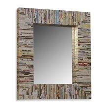 Recycled Magazine Mirror...