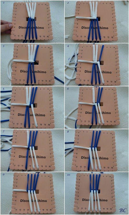 Preparar pulseras de todos los colores con el kumihimo cuadrado. ¡Aquí tienes el tutorial!