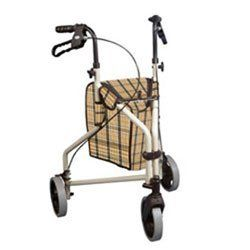 Rollator Winnie Lite Supreme Wheel Aluminum Rolling Walker Tan Plain by Drive Medical. $131.19. Adjustable handle height.. Easy folding for transportation.. Lightweight solid 7.5 inches casters.. Loop lock brakes.. Comes with standard carry pouch.. Rollator Winnie Lite Supreme 3 Wheel Aluminum Rolling Walker comes with lightweight, solid 7.5 inches casters for indoor or outdoor performance. Oversized wire basket is also available with Winnie Loop Lock 3 Wheel Aluminum Roll...