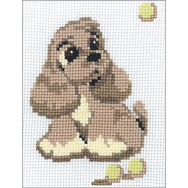 """Cocker Spaniel Counted Cross Stitch Kit - 6"""" x 7.25"""" 10 count"""