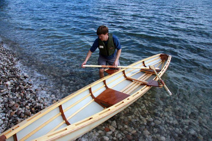 skin on frame row boat