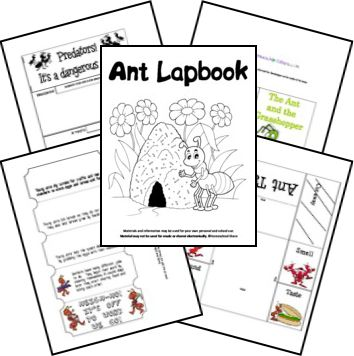 Ants Unit Study and Lapbook; goes with Truman's Aunt Farm