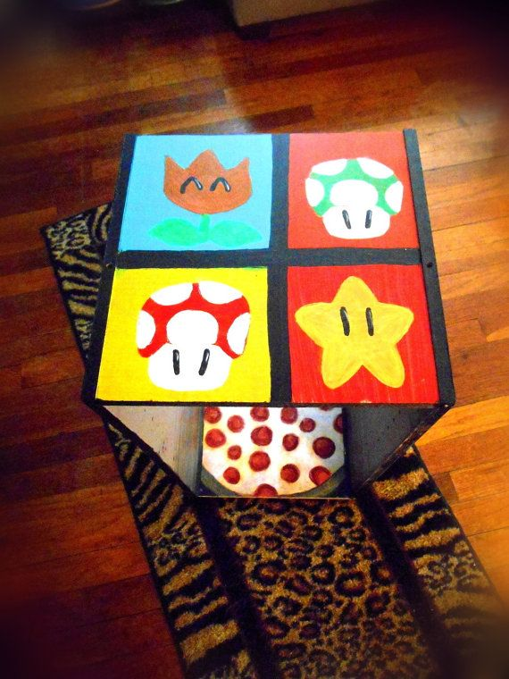 This is my Original Nintendo Cubby Space from my store, PaintworksbyNatalie, on Etsy!  Perfect for storing books, dvds, or games for old school Nintendo lovers, like myself!