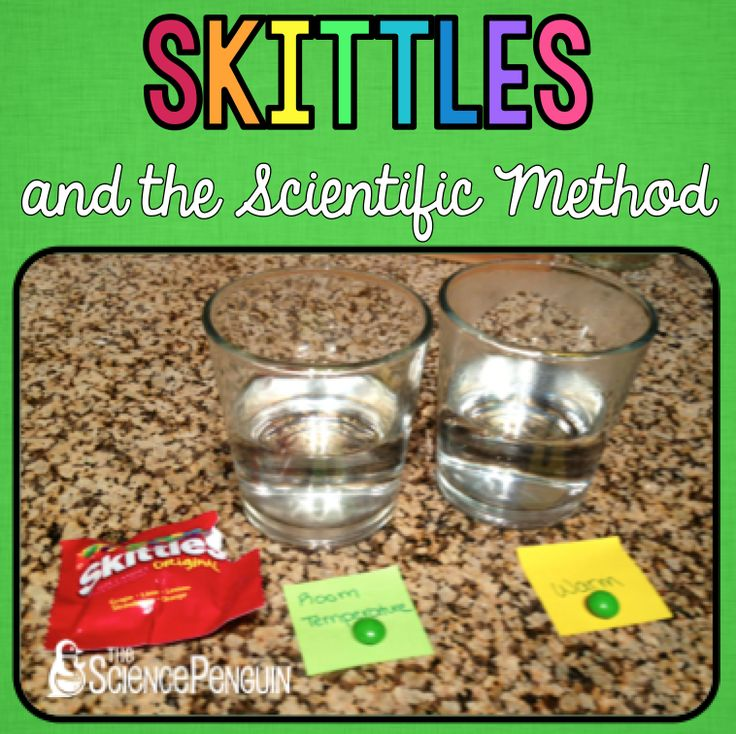 Skittles and the Scientific Method-- great review before Science Fair #sciencefair $