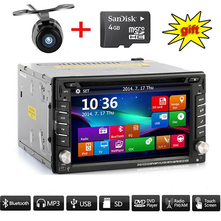 """7"""" Touch Screen TFT Double 2din Car CD DVD Player In Digital Dash Stereo Radio #Affiliate"""