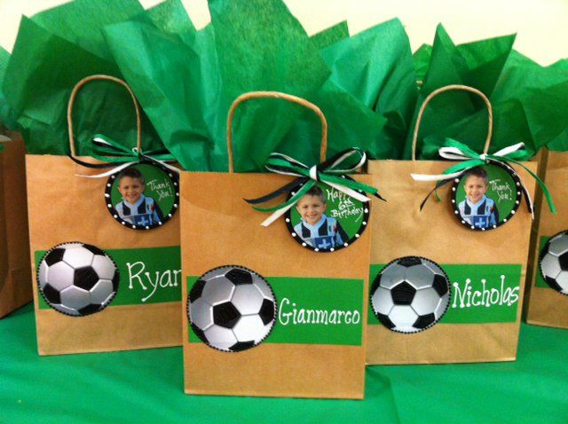 soccer theme party favor kits | Soccer Themed Birthday Party