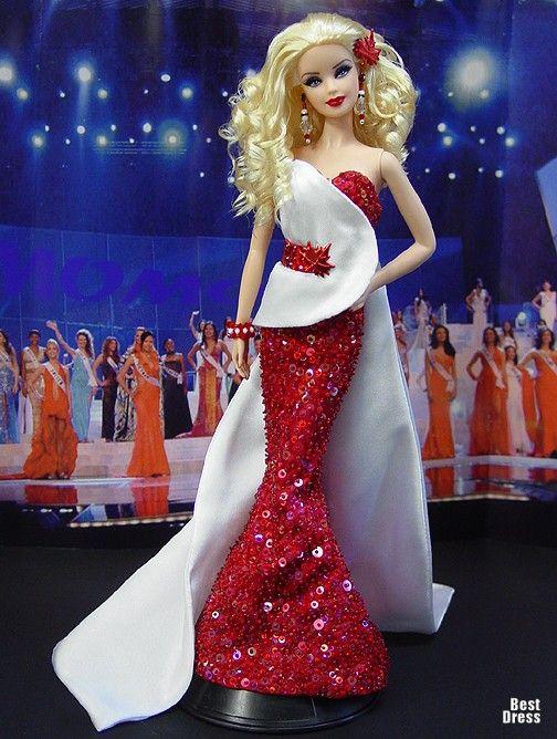 Ninimomo's Barbie.  Americas (North, Central, South).  2009/2010  Miss Canada (Dress Fausto Sarli)