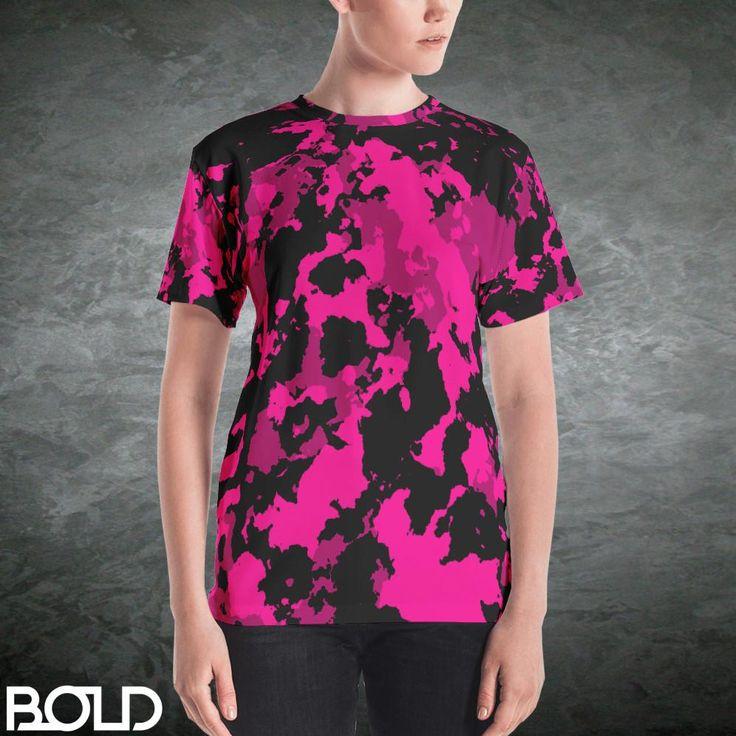 Deep Pink Camouflage Women's T-Shirt