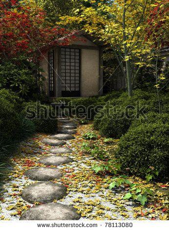 Japanese Zen Garden: Japanese Tea House