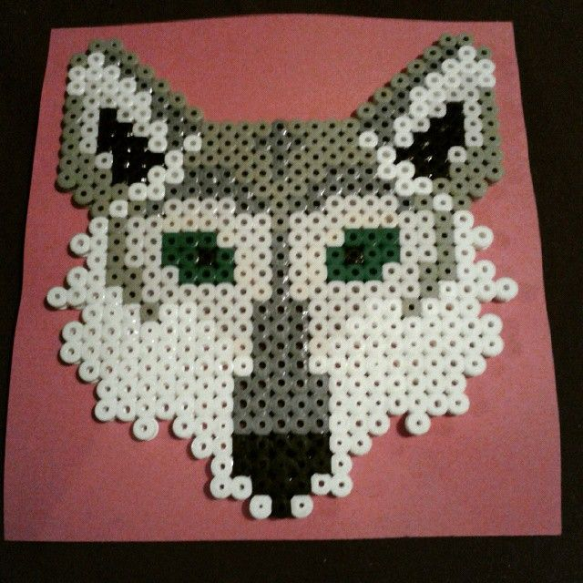 Wolf hama beads by henitai