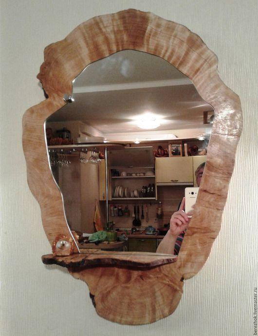 Зеркала ручной работы. Ярмарка Мастеров - ручная работа. Купить Зеркало с маленькой полочкой. Handmade. Золотой, интерьер