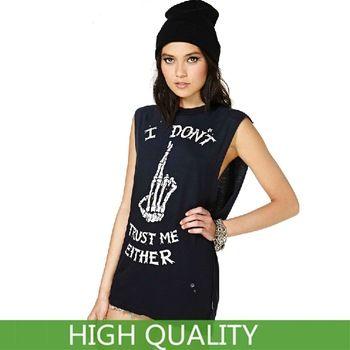 Plus Size XXL New Fashion Women Clothing Letter Punk Skull Finger Print T Shirt Women T-Shirt Cotton Casual Long T Shirts http://tinyurl.com/ngzy4ue #womenfashion #top #tshirt #fashiontshirt #casual #longtshirt #plussize #xxl