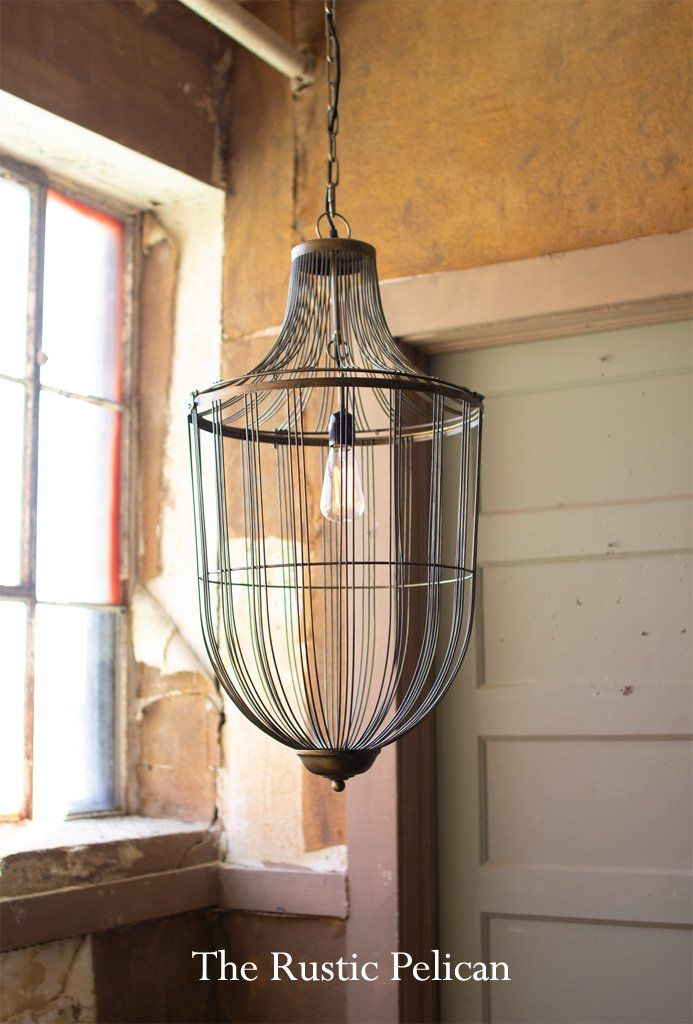 Modern Large Cage Pendant Light Chandelier In 2019 Rustic