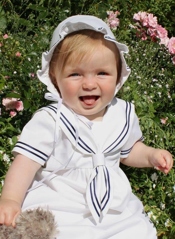 Sailordress, christening gown, sjömansklänning för dop, dopkläder, dpåskjole