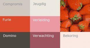 Rood en haar combinaties, de oerkleur onder de kleuren.