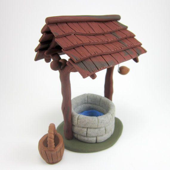 Fairy Garden Wishing Well - Polymer Clay Wishing Well - Home Decor