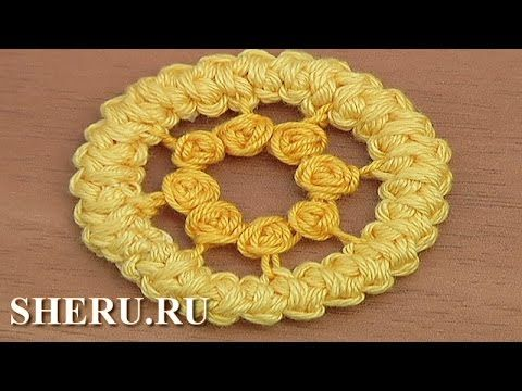 Румынское кружево Урок 80 Romanian Point Circle Lace Pattern - YouTube