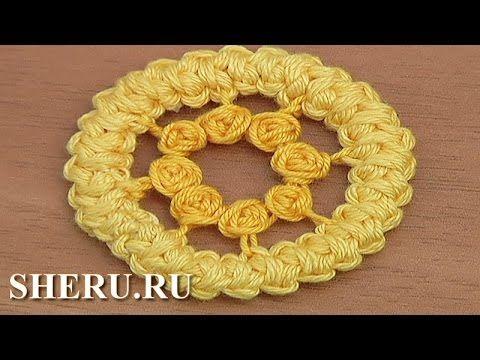 Румынское кружево Урок 80 Круглый элемент - YouTube