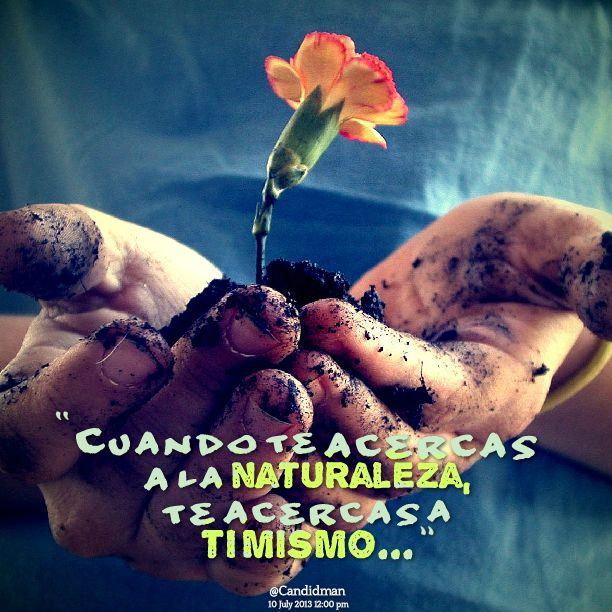 """""""Cuando te acercas a la naturaleza, te acercas a ti mismo..."""" #Citas #Frases @Candidman"""