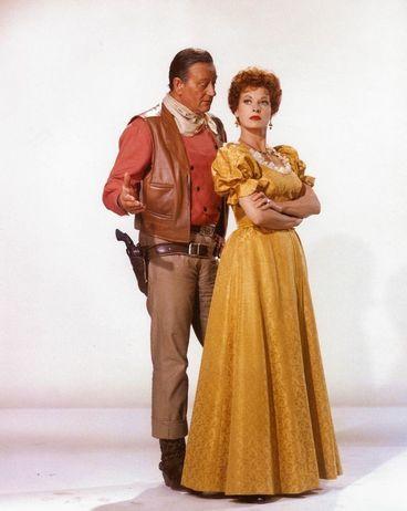 Favorite old Hollywood actors.  John Wayne and Maureen O'Hara made five movies together... The Quiet Man, Rio Grande, McLintock, Big Jake, and The Wings of Eagles.