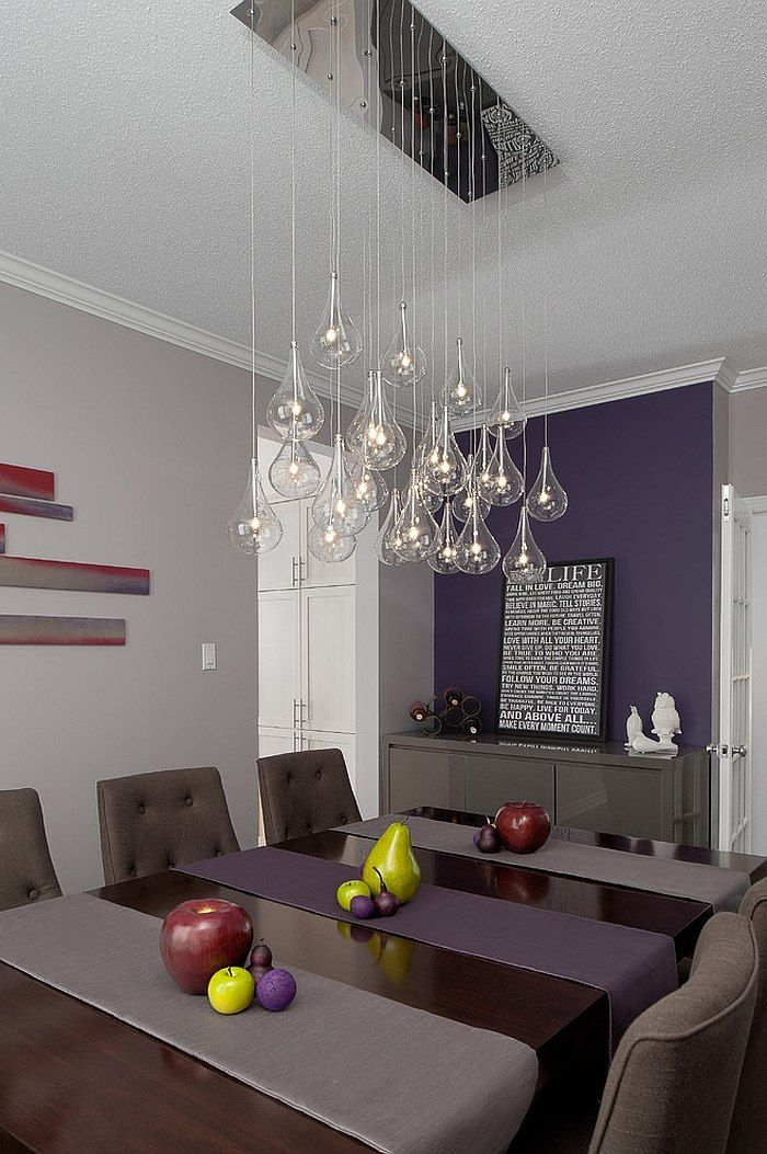 How To Fashion A Sumptuous Dining Room Using Majestic Purple Accent WallsPurple