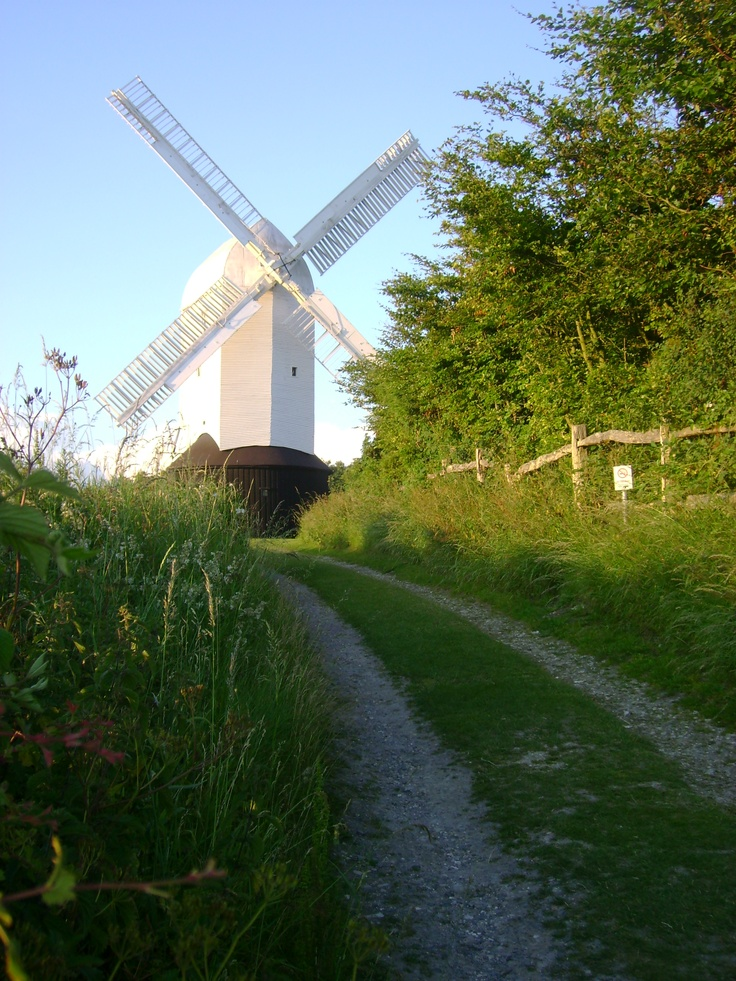 The walk up to Jill Windmill Clayton England Southdowns Sussex