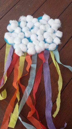 spring craft rain clouds toddler