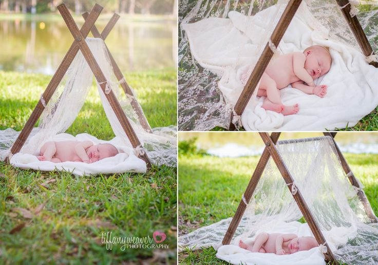 newborn session, newborn photography, tiffany weaver photography, outside newborn photos, baby in a basket, colorful word blocks, balloons on a basket, baby moses, baby tent, lace, wood, sleeping baby