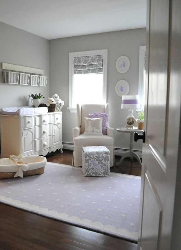 Gentle Lilac Nursery For A Baby Girl