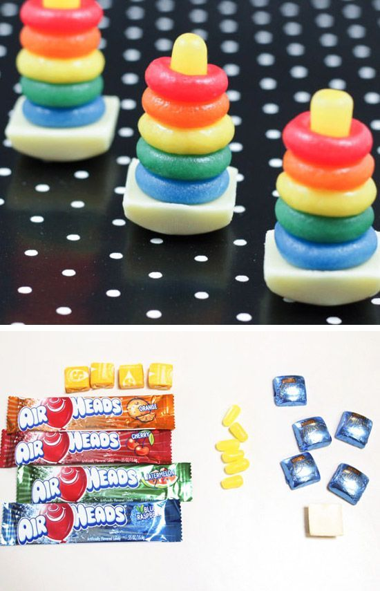 Candy Rainbow Rock-a-Stack Toy
