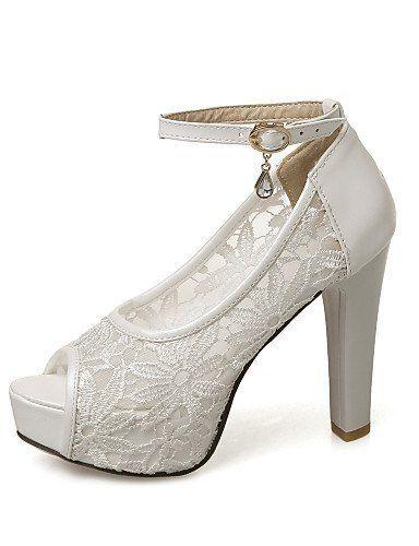 LEI&LI Scarpe Donna - Scarpe col tacco - Matrimonio / Ufficio e lavoro / Formale / Serata e festa - Tacchi - A stiletto - Finta pelle -Nero / , white-us3.5 / eu33 / uk1.5 / cn32 , white-us3.5 / eu33 / uk1.5 / cn32