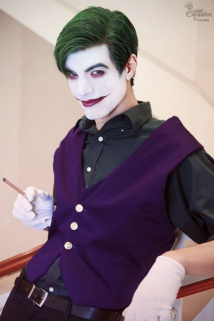 The Joker cosplay. A little more sweet and sensitive yet still maniacal, perhaps.